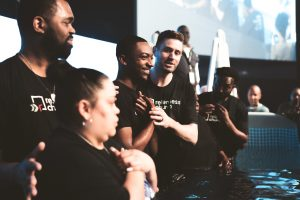 Jordan Anderson participating in Pursuit Night and Baptisms